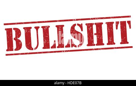Bullshit grunge rubber stamp on white background, vector illustration - Stock Photo