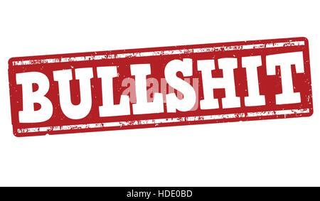 Bullshit grunge rubber stamp on white background, vector illustration - Stock Photo