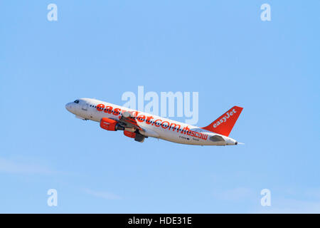 Airbus A320-214 of Easyjet in Moscow livery. - Stock Photo