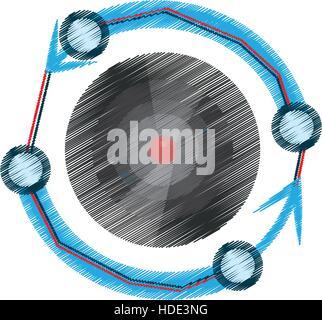 drawing vr circular camera panorama - Stock Photo
