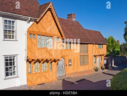 Little Hall, a former wool merchant's house in Lavenham, Suffolk. A picturesque historic village. - Stock Photo