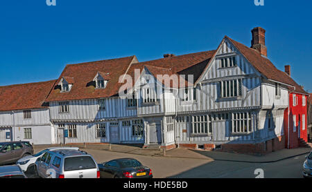 The 15th century Guildhall of Corpus Christi in Lavenham, Suffolk. A picturesque historic village. - Stock Photo