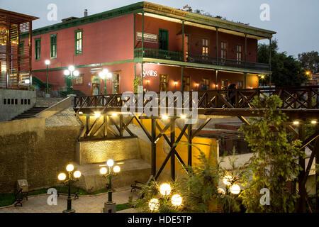 Restaurant and Puente de los Suspiros (Bridge of Sighs), Barranco, Lima, Peru