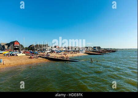The beach Whistable Kent. - Stock Photo