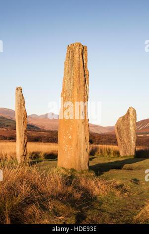 Machrie Moor Stone Circle on Arran. - Stock Photo