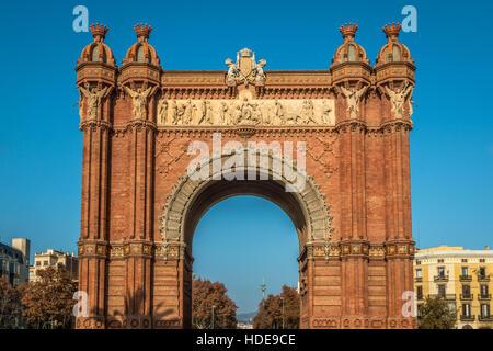 Arco de Triunfo de Barcelona - Stock Photo