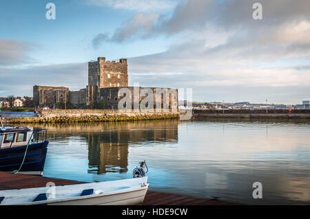 Carrickfergus Castle in Northern Ireland - Stock Photo