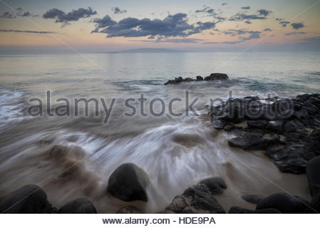 Sunrise at Kamaole Beach Park II, Kihei, Maui, Hawaii - Stock Photo