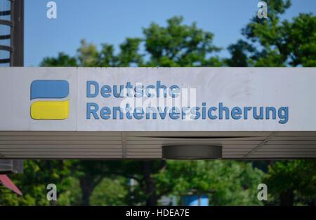 Logo, Deutsche Rentenversicherung, Fehrbelliner Platz, Wilmersdorf, Berlin, Deutschland - Stock Photo