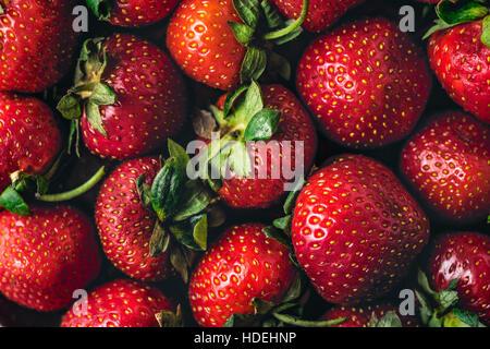 Strawberry  background close-up horizontal - Stock Photo