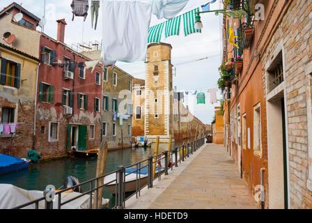 Rio della Tana, with Arsenale di Venezia, Castello, Venice, Veneto, Italy - Stock Photo
