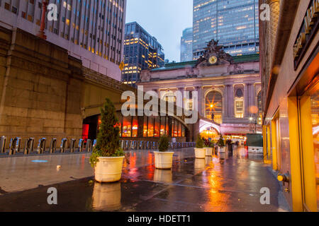 Grand central station exterior 42nd Street, Manhattan,New York City, United States of America. - Stock Photo
