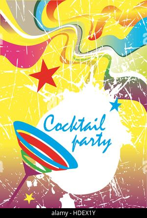 Cocktail party .New Year's banner - Stock Photo