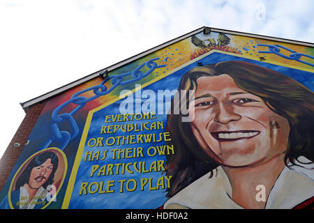 Belfast Falls Rd Republican Mural- Everyone in a revolution,has their part to play - Stock Photo