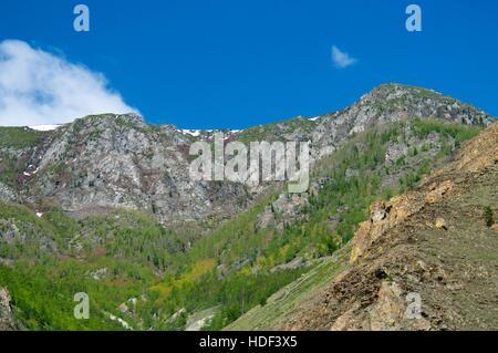 The wild and desolate mountains of the Baikal Lake - Stock Photo