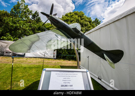 A large metal model Spitfire for sale at the 2016 Goodwood Festival of Speed - Stock Photo