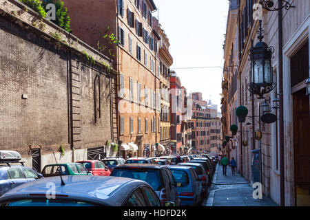 ROME, ITALY - NOVEMBER 1, 2016: street Via Francesco Crispi in Rome. Francesco Crispi (4.10.1818 - 12.08.1901) was - Stock Photo