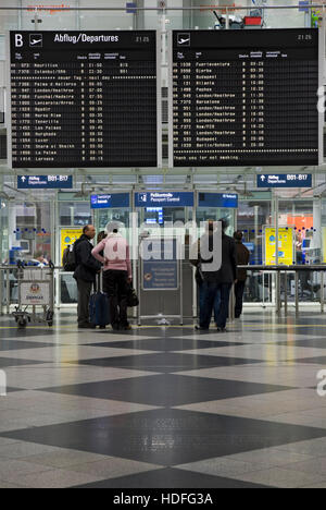 Franz Joseph Strauss Airport, Freising, Munich, Bavaria - Stock Photo