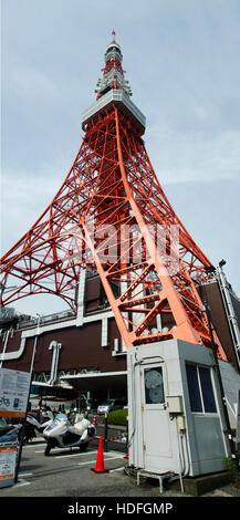 Tokyo tower lamdmarks for japanese people and foreigner travelers visit and travel at Tokyo city on October 21, - Stock Photo