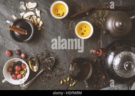 Tea diversity concept horizontal - Stock Photo