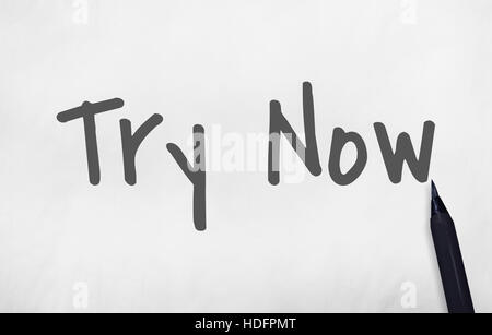 Try Now New Things Concept - Stock Photo