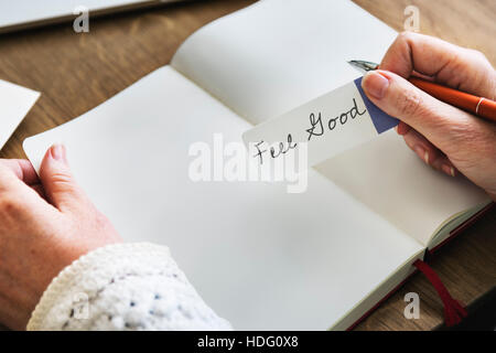 Feel Good Best Excellent Positive Thinking Concept - Stock Photo