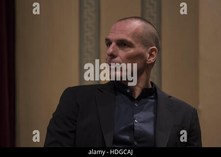 Athens, Greece. 12th Dec, 2016. YIANIS VAROUFAKIS during the presentation of his new book. Renowned Greek economist, - Stock Photo
