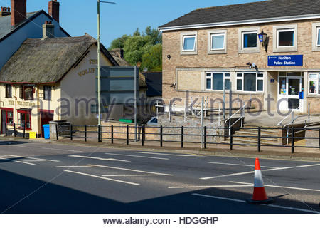 Local police station, Honiton, Devon, England, UK - Stock Photo