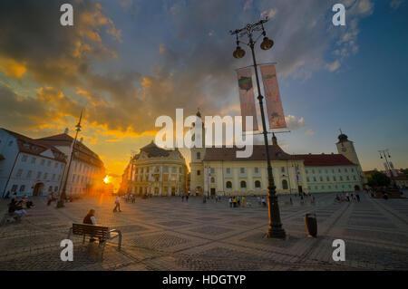 Sibiu, Hermannstadt, Romania - Stock Photo
