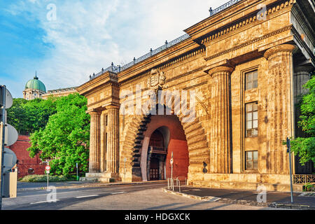 Road Tunnel near Funicular to Royal Castle Hill. Budapest. Hungary. - Stock Photo