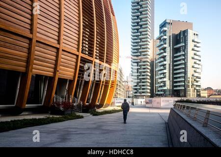 Milano, Italy. 14th Nov, 2016. UniCredit Pavillion in Porta Nuova complex - Milano - Italy © Mairo Cinquetti/Pacific - Stock Photo