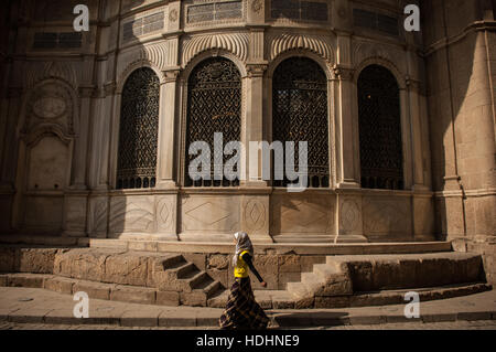 The Streets of the Islamic Quarter of Cairo and the Khan el Khalili Bazaar - Stock Photo