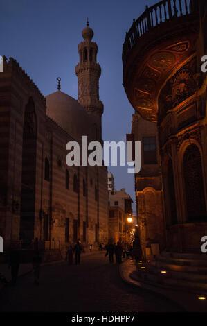 A Walk Along Mui'z Street in Islamic Cairo, Egypt, - Stock Photo