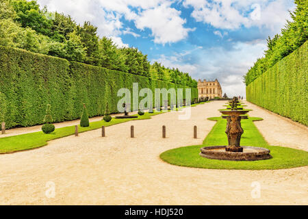 Beautiful Garden in a Famous Palace of Versailles (Chateau de Versailles), France. - Stock Photo