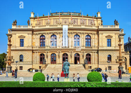 PRAGUE, CZECH REPUBLIC-SEPTEMBER 12, 2015: Building of the National Opera of Prague and the Czech Republic.Czech - Stock Photo