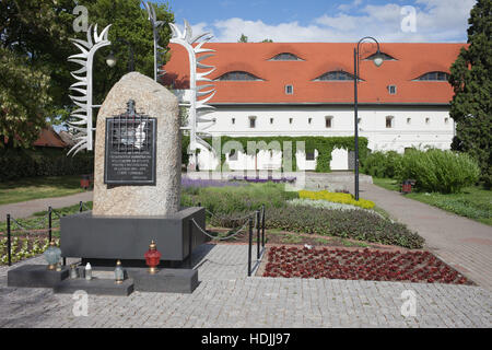 Monument to Cursed Soldiers and Ethnographic Museum building in city of Torun, Poland - Stock Photo