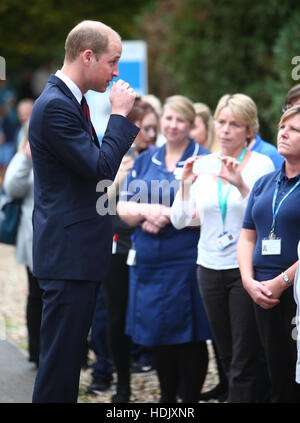 The Duke of Cambridge visits a 'Step into Health' military employment programme as part of a day focusing on veteran - Stock Photo