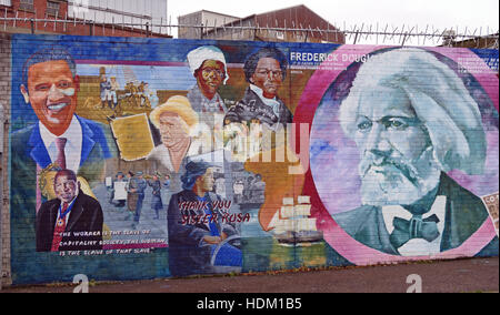 Belfast Falls Rd Rebublican Mural - Stock Photo