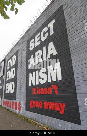 Belfast Falls Rd Rebublican Mural - Stock Photo