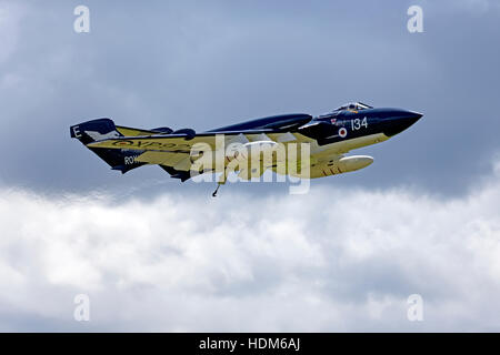 Former Fleet Air Arm De Havilland Sea Vixen FAW 2, XP924, at the RNAS Yeovilton International Air Day, Somerset, - Stock Photo