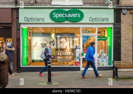 The front of Specsavers Opticians on Peascod Street in Windsor, Berkshire, UK. - Stock Photo