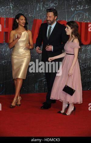 'The Accountant' European Premiere  Featuring: Cynthia Addai Robinson, Ben Affleck, Anna Kendrick Where: London, - Stock Photo