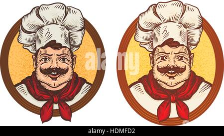 Restaurant, cafe vector logo. Cook, chef or cooking icons