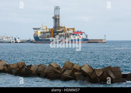 LAS PALMAS, CANARY ISLANDS - OCTOBER 10, 2016. Stena Drillship in port. Stock Photo