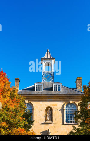 The blue house and clock at Frome, Somerset - Stock Photo