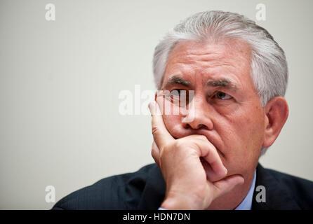File Photo. 13th Dec, 2016. President-elect Donald Trump announced Tuesday he has picked Exxon Mobil CEO Rex Tillerson - Stock Photo