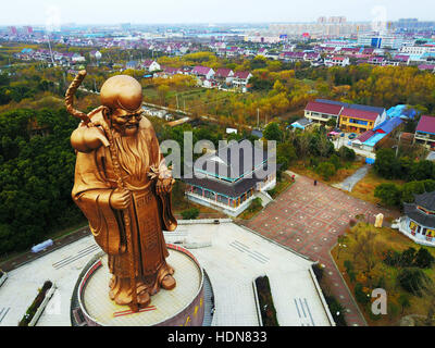 Rugao, Rugao, China. 11th Dec, 2016. Rugao, CHINA-December 11 2016: (EDITORIAL USE ONLY. CHINA OUT) .The giant bronze - Stock Photo