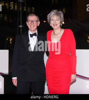 London, UK. 14th Dec, 2016. Theresa May and her husband attends in Guild Hall on 14th December 2016, London, England. - Stock Photo