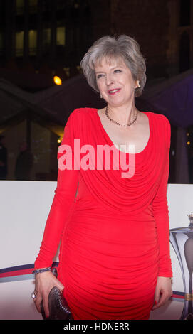 London, UK. 14th Dec, 2016. The Prime minister Theresa May attends in Guild Hall on 14th December 2016, London, - Stock Photo