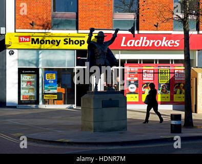 Spirit of Carnival statue in Bridgewater, Somerset, England UK - Stock Photo